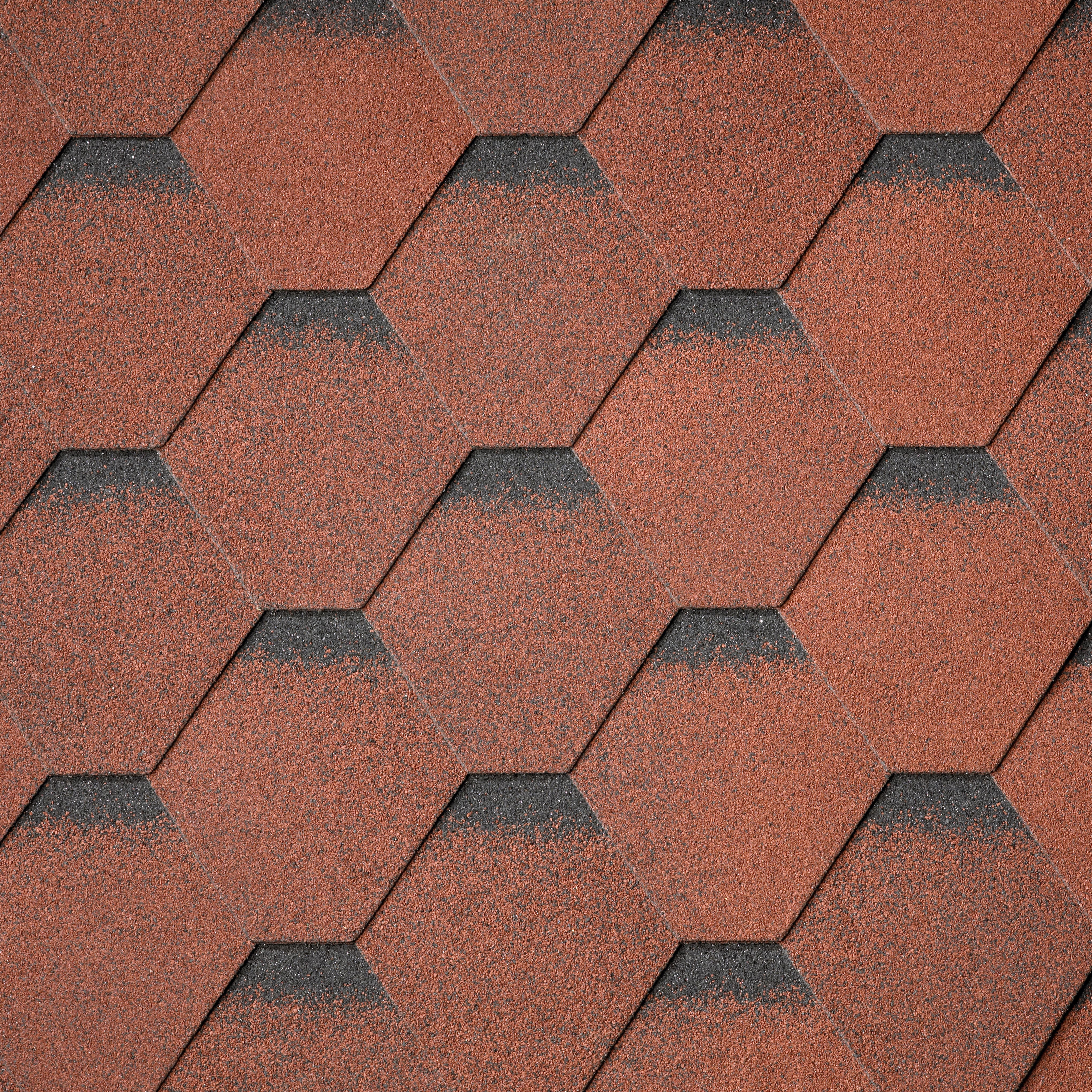 Битумная черепица IKO Superglass Hex Tile Red ultra
