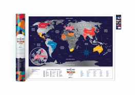 Скретч карта мира Travel Map Holiday World
